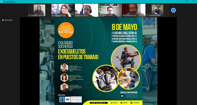 Coliloquio Exoesqueletos de Sociedad Chilena de Ergonomía