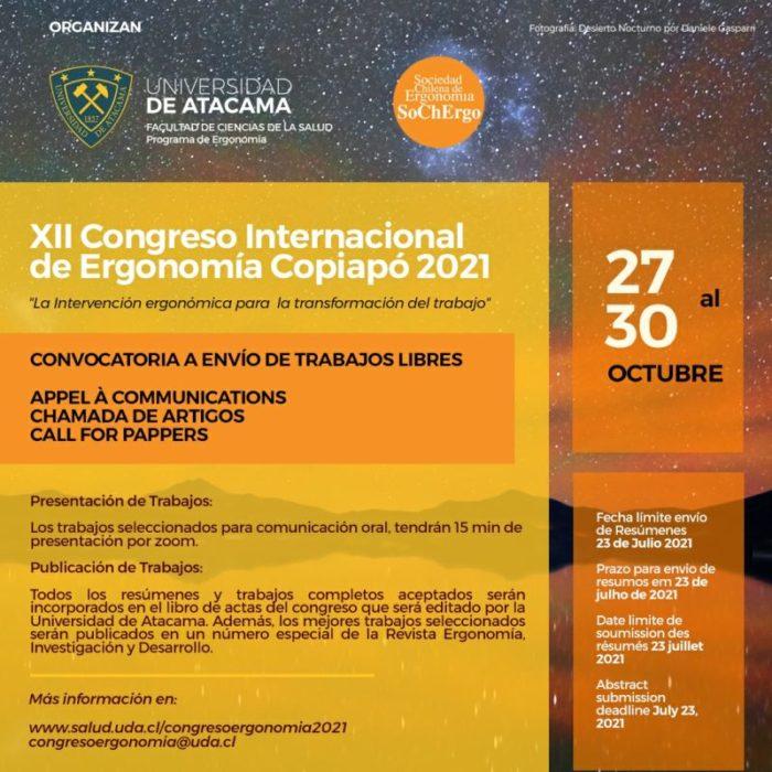 XII Congreso Internacional de Ergonomía SOCHERGO-UDA